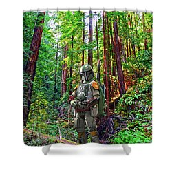 Boba Shower Curtain