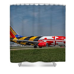 Boeing 737 Maryland Shower Curtain