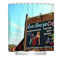 Boogie And Blues Shower Curtain by JAMART Photography