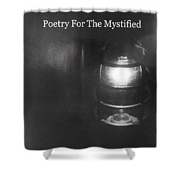Book Pondering In The Dark Shower Curtain by Denise Fulmer
