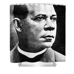 Booker T. Washington, African-american Shower Curtain by Photo Researchers