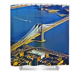 Booklyn And Manhattan Bridges Shower Curtain