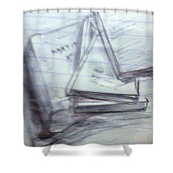 Books Shower Curtain by Madhusudan Bishnoi