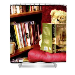 Bookworm Ted Shower Curtain