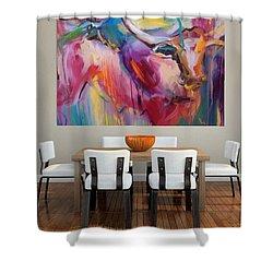 Boom Shower Curtain by Heather Roddy