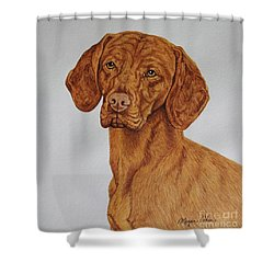 Boomer The Vizsla Shower Curtain