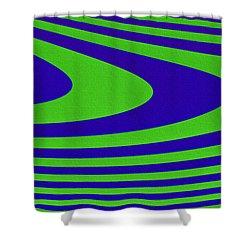 Boomerang Shower Curtain by Carolyn Marshall