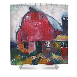 Boompa's Barn Shower Curtain