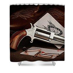 Boot Gun Still Life Shower Curtain by Tom Mc Nemar