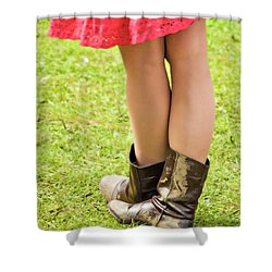 Boot Scootin' Shower Curtain by Meirion Matthias