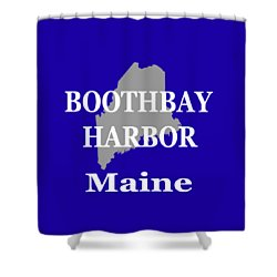 Shower Curtain featuring the photograph Boothbay Harbor Maine State City And Town Pride  by Keith Webber Jr