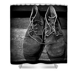 Boots Shower Curtain by Joseph Skompski
