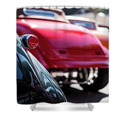 Shower Curtain featuring the photograph Boots Of Colorful Cars by Lora Lee Chapman