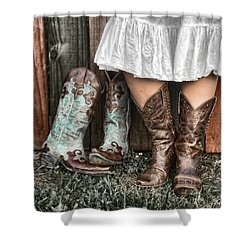 Boots X 2 Shower Curtain