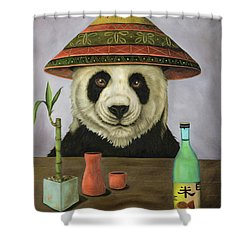 Boozer 4 Shower Curtain by Leah Saulnier The Painting Maniac