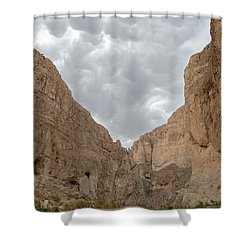 Boquillas Canyon And Scalloped Clouds Big Bend National Park Texas Shower Curtain