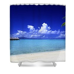 Bora Bora South Pacific Shower Curtain by Panoramic Images