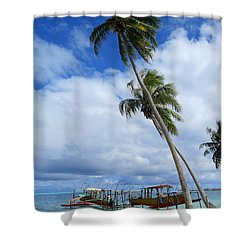 Bora Bora View Shower Curtain