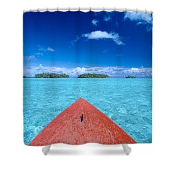 Bora Bora, View Shower Curtain by William Waterfall - Printscapes