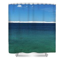 Shower Curtain featuring the photograph Bora In Velebit Kanal I by Davor Zerjav