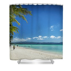 Boracay Island Tropical Coast Landscape In Philippines Shower Curtain