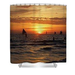 Boracay Sunset Shower Curtain