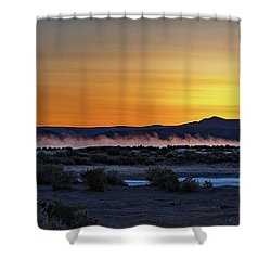 Shower Curtain featuring the photograph Borax Lake At Sunrise by Cat Connor