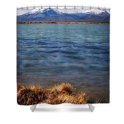 Shower Curtain featuring the photograph Borax Lake by Cat Connor