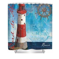 Bord De Mer Shower Curtain by Debbie DeWitt
