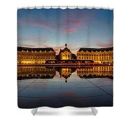 Bordeaux Reflections Shower Curtain