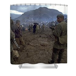 Shower Curtain featuring the photograph Border Control by Travel Pics