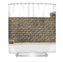 Border Wall Shower Curtain