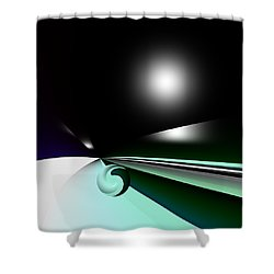 Borderling Shower Curtain