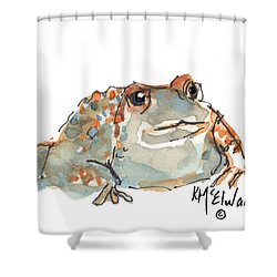 Boreal Chorus Frog Shower Curtain by Kathleen McElwaine