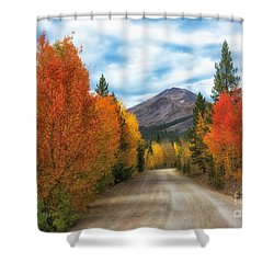 Boreas Mountain Shower Curtain