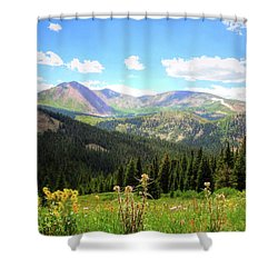 Boreas Pass Colorado Shower Curtain