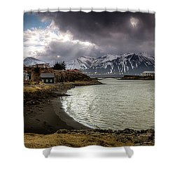 Borganes Light Show Shower Curtain