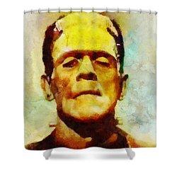 Boris Karloff As Frankenstein Shower Curtain