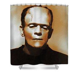 Boris Karloff Frankenstein Hollywood Legends Shower Curtain