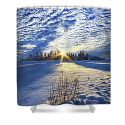 Shower Curtain featuring the photograph Born As We Are by Phil Koch