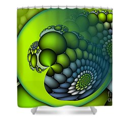Born To Be Green Shower Curtain by Jutta Maria Pusl