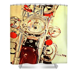 Born To Be Wild Shower Curtain by Cynthia Powell