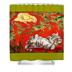Shower Curtain featuring the painting Born To Be Wild by Hiroko Sakai