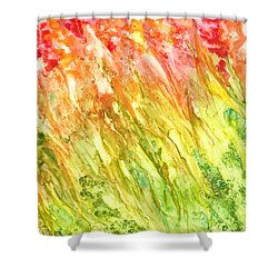 Born To Be Wild Shower Curtain by Rosie Brown