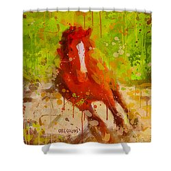Born To Fly Shower Curtain