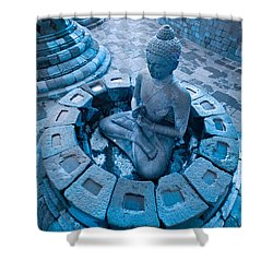 Borobudur Temple Shower Curtain by Luciano Mortula