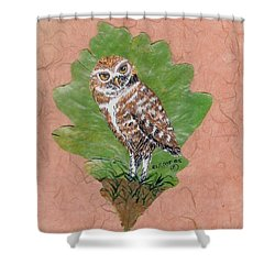 Borrowing Owl Shower Curtain