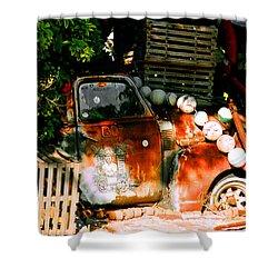 B.o.'s Fish Wagon In Key West Shower Curtain