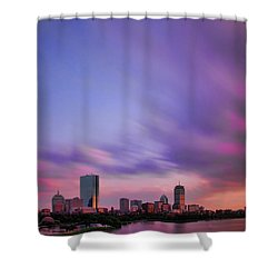 Boston Afterglow Shower Curtain by Rick Berk