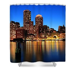 Boston Aglow Shower Curtain